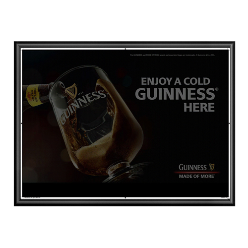 OEM Flashing Animated Poster with Aluminum Frame
