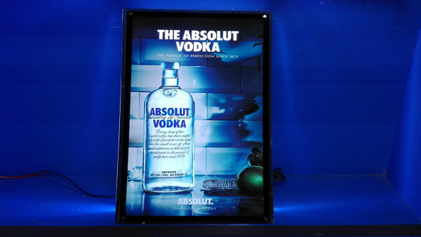 LED Flashing Sign-VODKA Case
